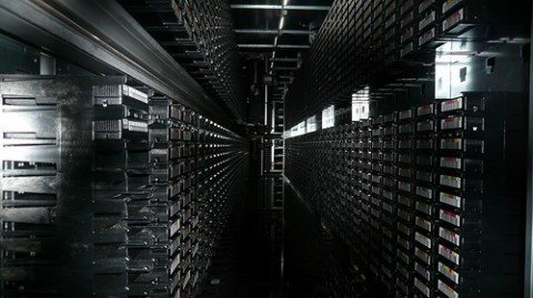 Tape library, CERN, Geneva 2 by Cory Doctorow / CC BY-SA